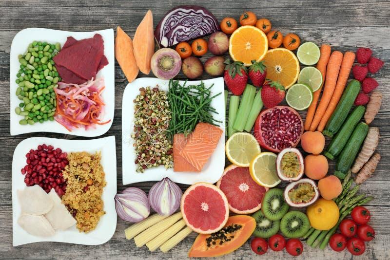 Comida sana de la dieta fotos de archivo