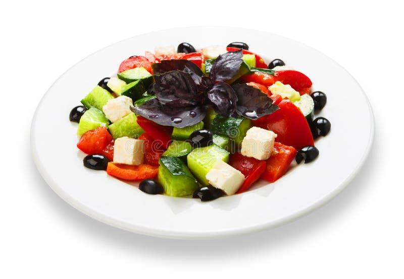 Comida sana del restaurante - ensalada griega fotografía de archivo libre de regalías