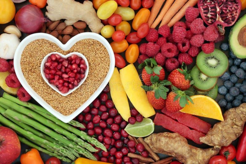 Comida sana para la aptitud del corazón fotos de archivo