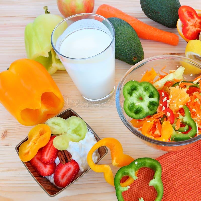 Comida sana - vida sana imagen de archivo