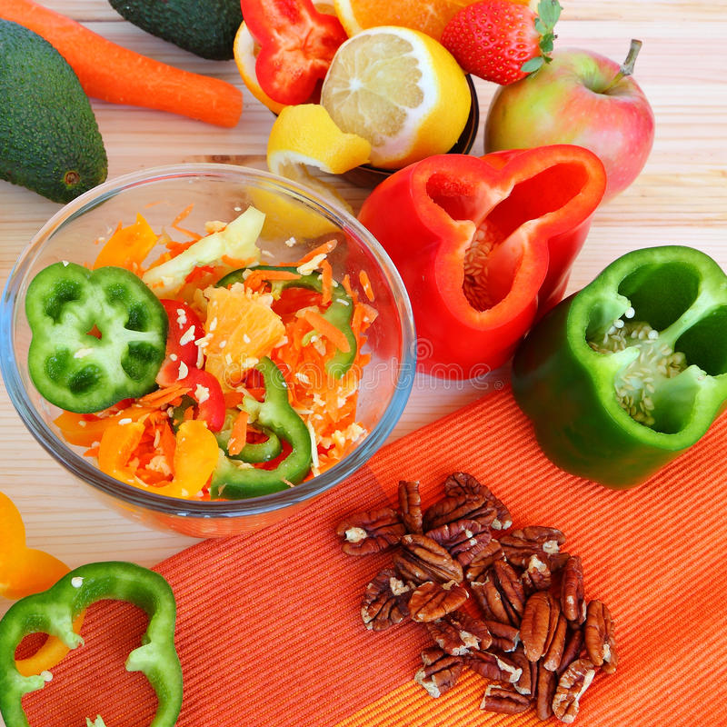 Comida sana - vida sana fotos de archivo