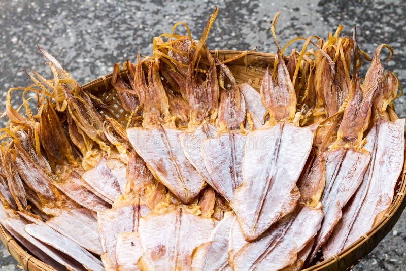 Comida secada calamar fotos de archivo libres de regalías