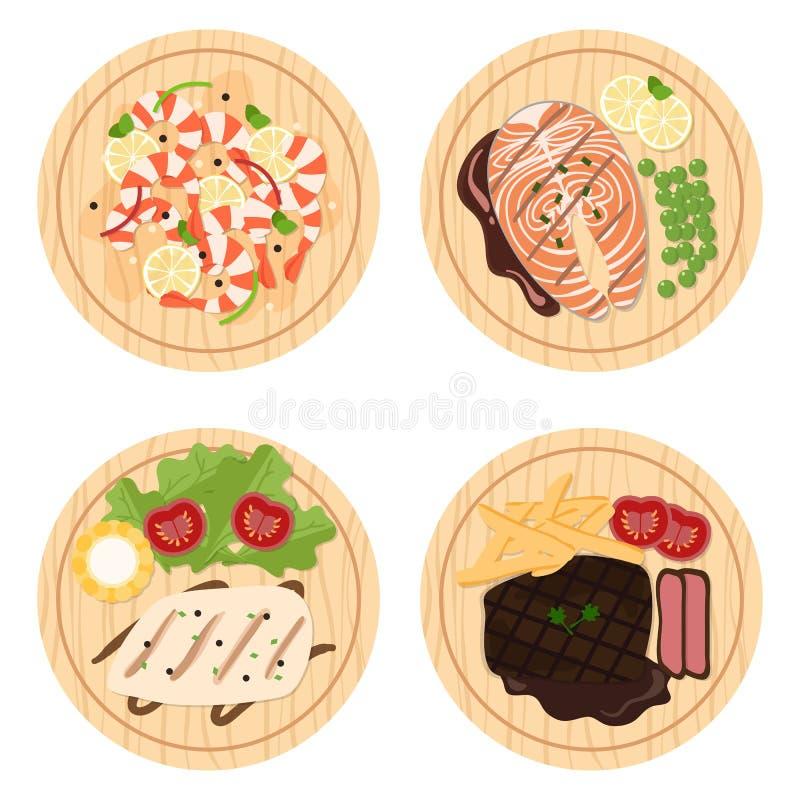 Comida set2 stock de ilustración