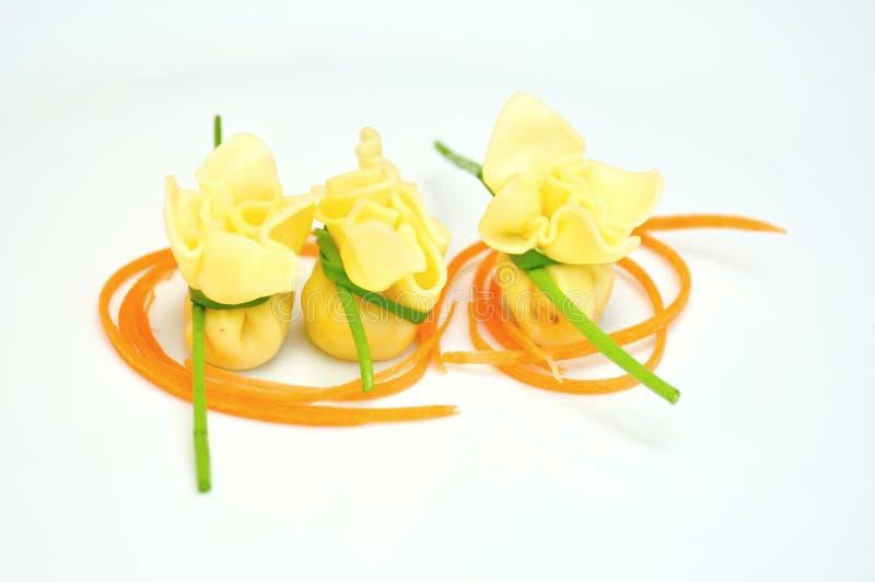 Comida típica del italiano: pastas imagen de archivo