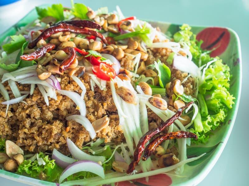 Comida tailandesa, foo del duk del pla del ñame imagen de archivo