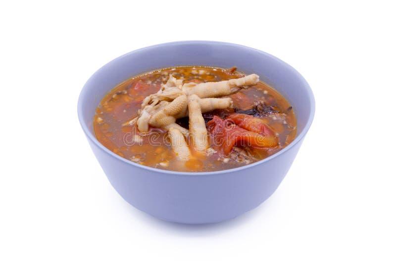 Comida tailandesa septentrional en el fondo blanco foto de archivo
