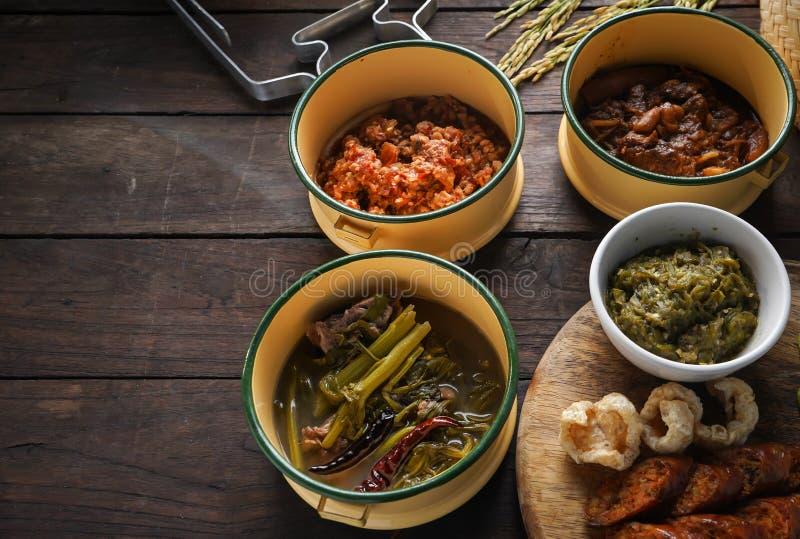 Comida tailandesa, comida tailandesa septentrional, imágenes de archivo libres de regalías
