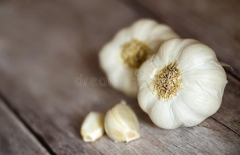 Comida vegetal de la consumición sana del ajo imágenes de archivo libres de regalías