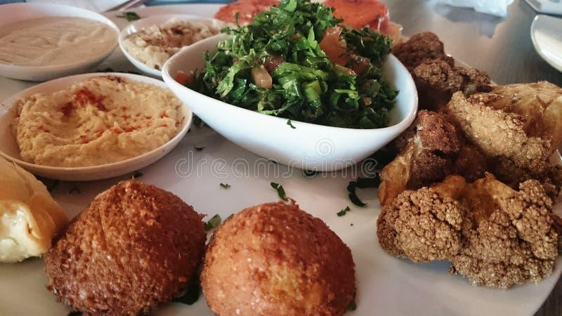 Comida vegetariana libanesa imágenes de archivo libres de regalías