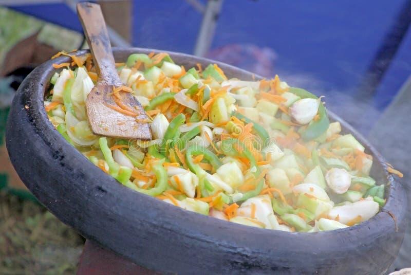 Comida vegetariana tradicional búlgara fotografía de archivo