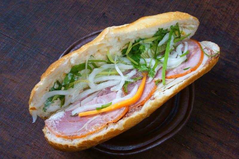 Comida vietnamita, banh MI fotos de archivo libres de regalías