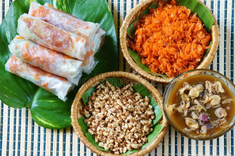 Comida vietnamita, bia de BO foto de archivo