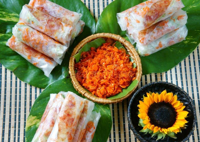 Comida vietnamita, bia de BO fotos de archivo libres de regalías