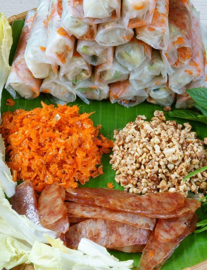 Comida vietnamita, bia de BO imagen de archivo