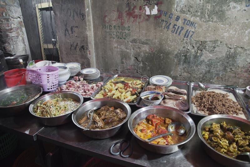 Comida vietnamita de la calle fotografía de archivo