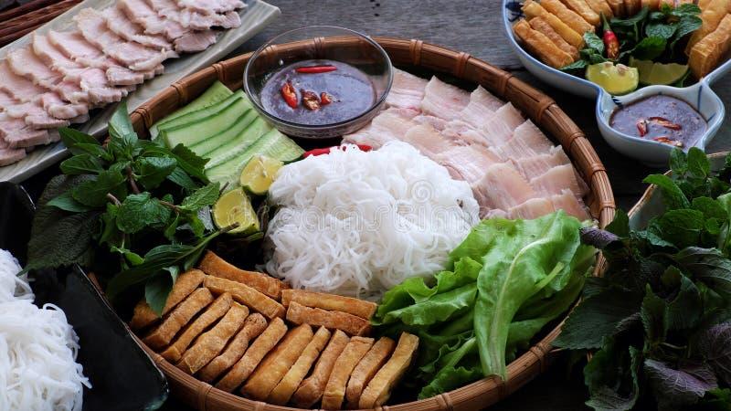 Comida vietnamita, mam tom del dau del bollo fotos de archivo
