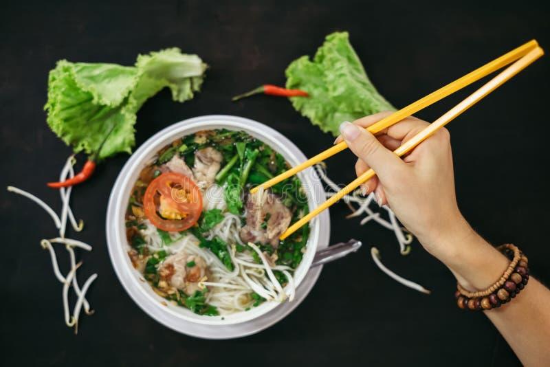 Comida vietnamita tradicional de la calle fotos de archivo libres de regalías