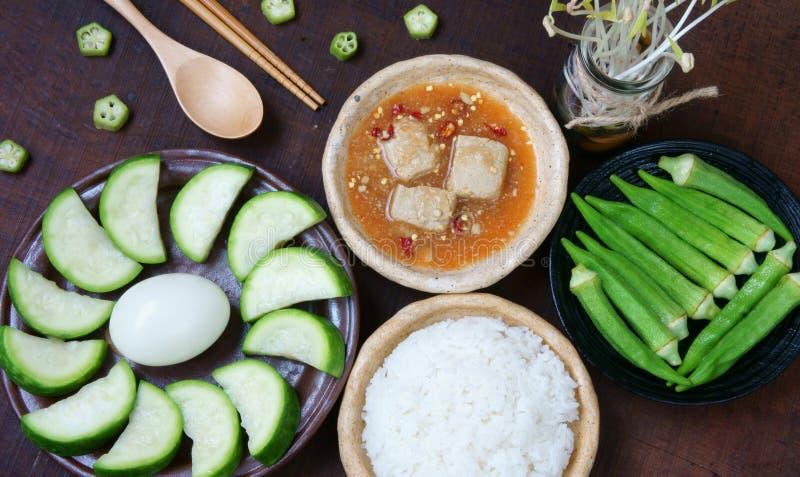 Comida vietnamita, vegetariano, menú de la dieta foto de archivo libre de regalías