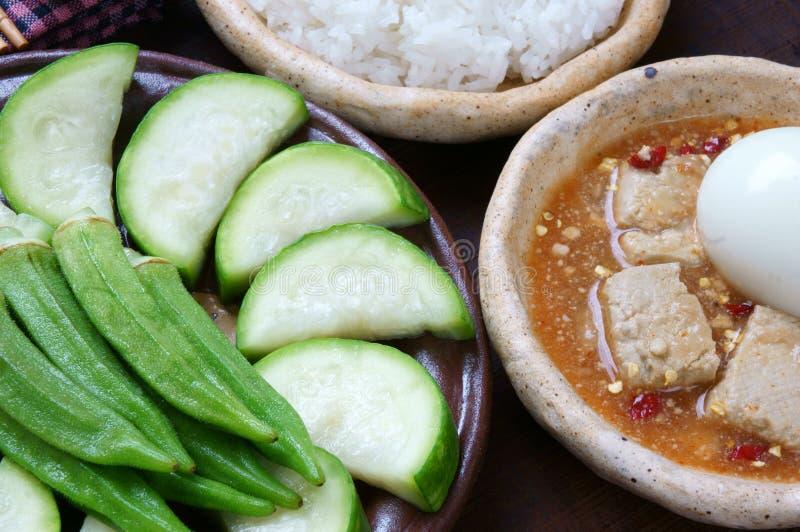 Comida vietnamita, vegetariano, menú de la dieta fotografía de archivo