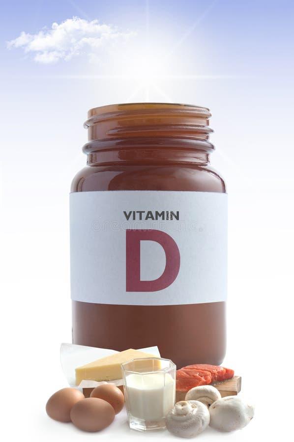 Comidas de la vitamina D imagen de archivo libre de regalías