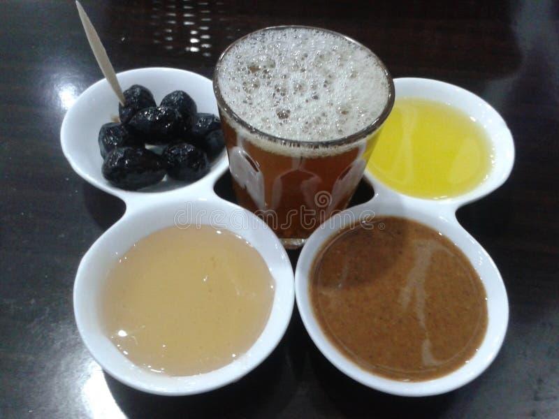Comidas del thea de la comida de la bebida del desayuno fotos de archivo