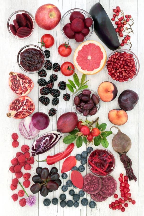 Comidas sanas altas en antocianinas imágenes de archivo libres de regalías