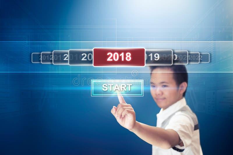 Comience el Año Nuevo 2018 imagen de archivo libre de regalías