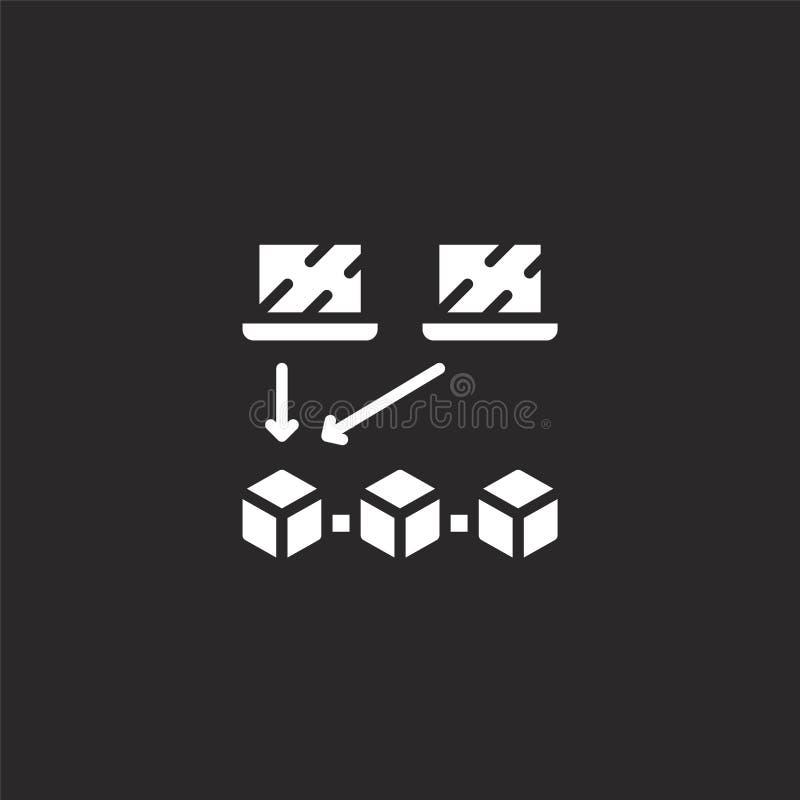 Comience el icono Icono llenado del comienzo para el diseño y el móvil, desarrollo de la página web del app icono del comienzo de libre illustration
