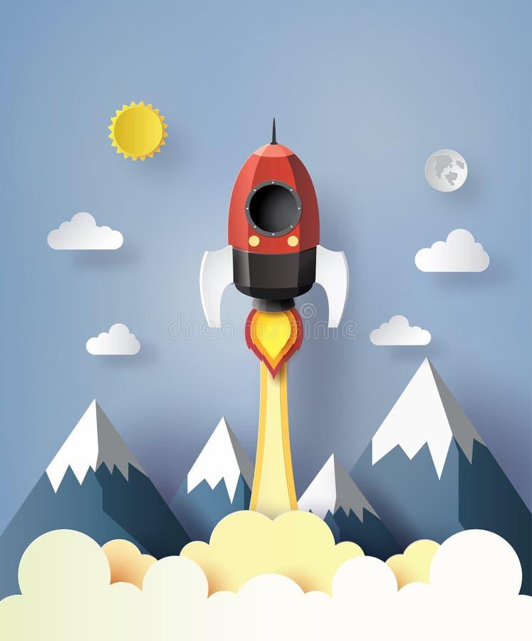 Comience para arriba el concepto del negocio ilustración del vector