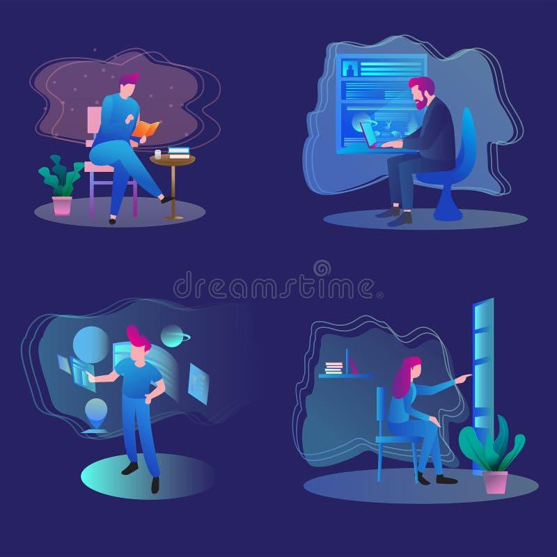 Comience para arriba el diseño del vector ilustración del vector