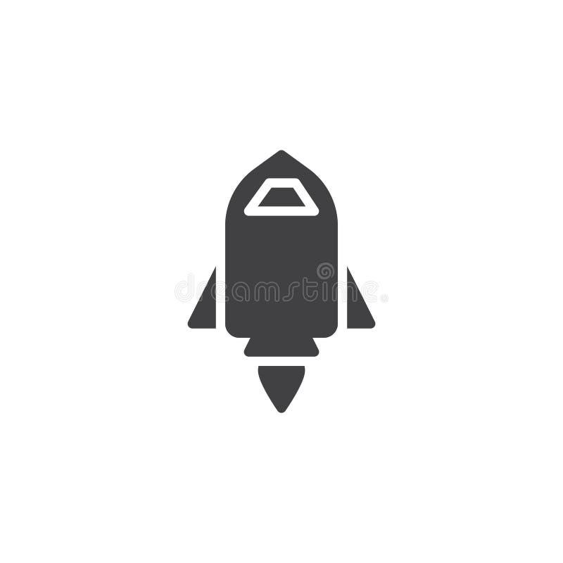 Comience para arriba el icono del vector del cohete stock de ilustración