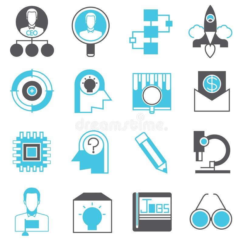 Comience para arriba los iconos del negocio libre illustration