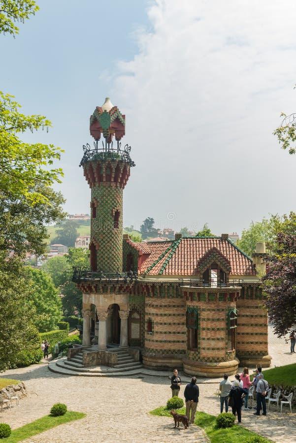 Comillas Cantabria, España - capricho de Gaudi, el 23 de mayo de 2018 EL imagen de archivo libre de regalías