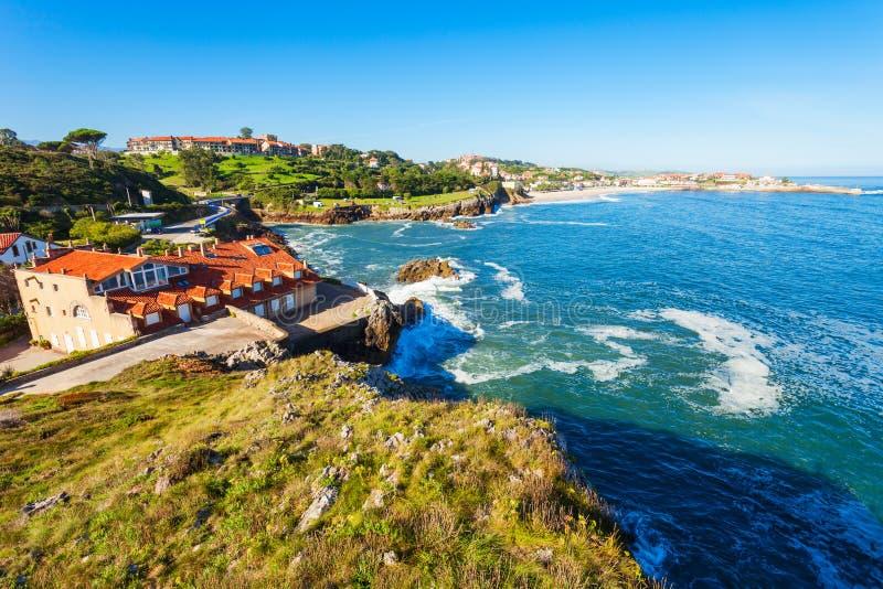 Comillas miasta plaży widok z lotu ptaka fotografia royalty free
