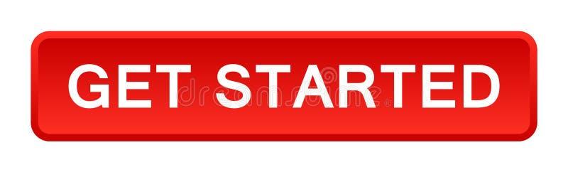 Cominci il bottone illustrazione vettoriale