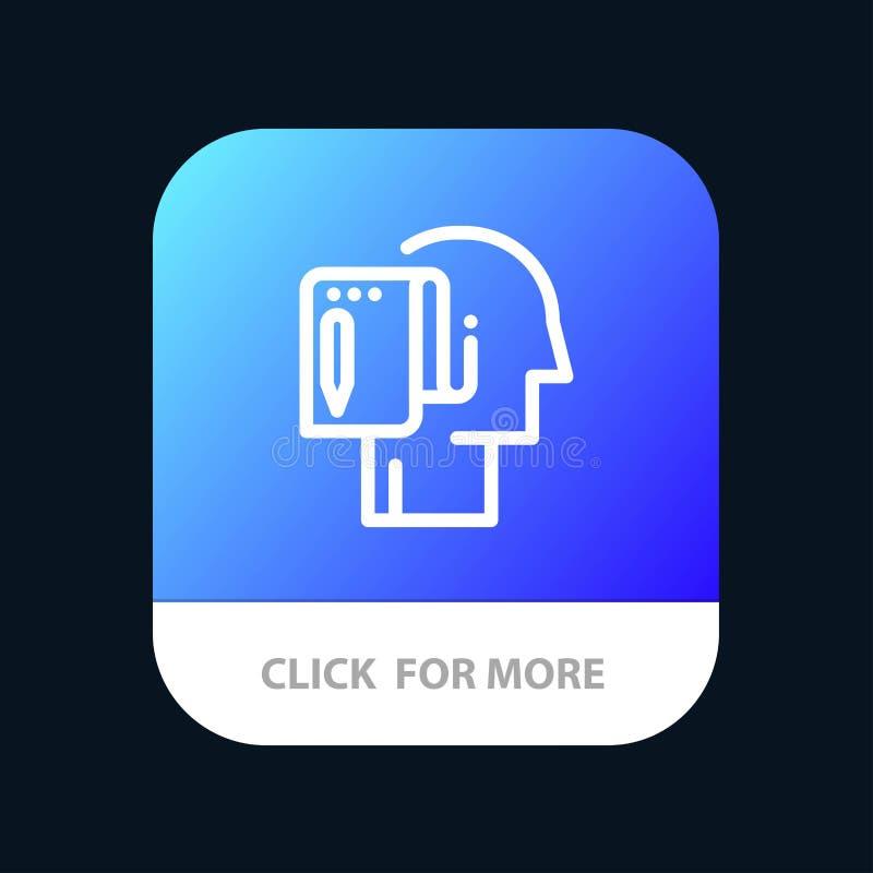 Cominci, parta dal graffio, la lista, la nota, bottone mobile del App di inizio Android e linea versione dell'IOS illustrazione di stock