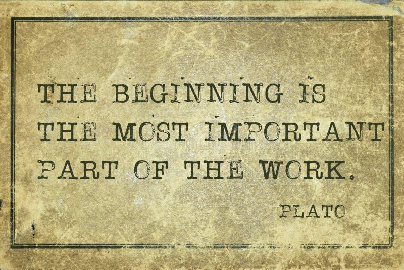 Cominci Platone fotografie stock