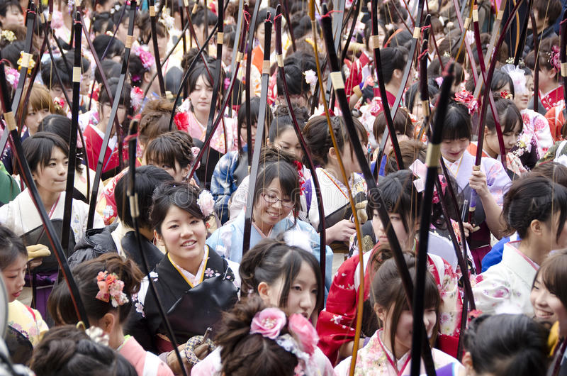 Download Coming Of Age Day Archery Competition Editorial Stock Image - Image: 28035584