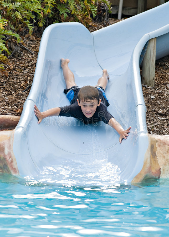 Free Coming Down The Slide Stock Photo - 6725540