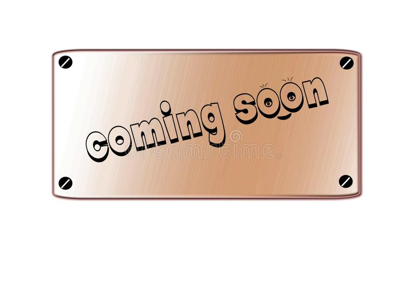 Download Coming soon stock illustration. Illustration of welcome - 26633588