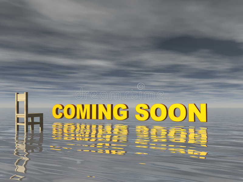 Download Coming soon stock illustration. Illustration of water - 5589565