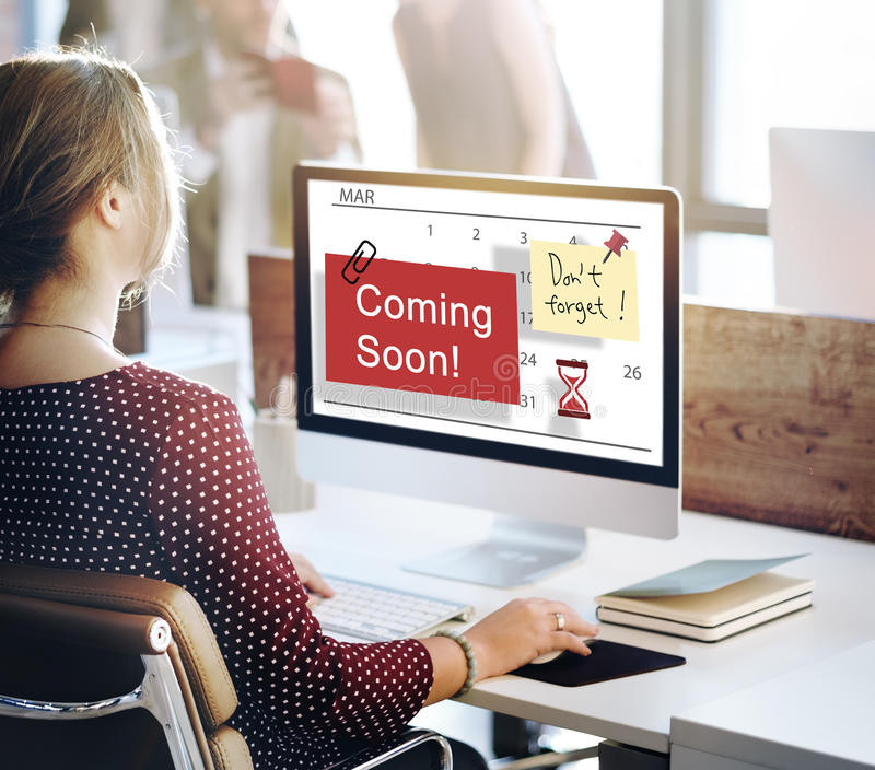 Coming Soon Advertising Annoucement Sign Concept royalty free stock image