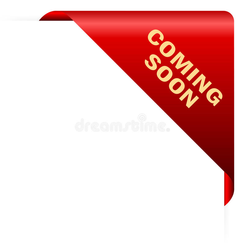Coming soon corner. Coming soon red corner, vector illustration royalty free illustration