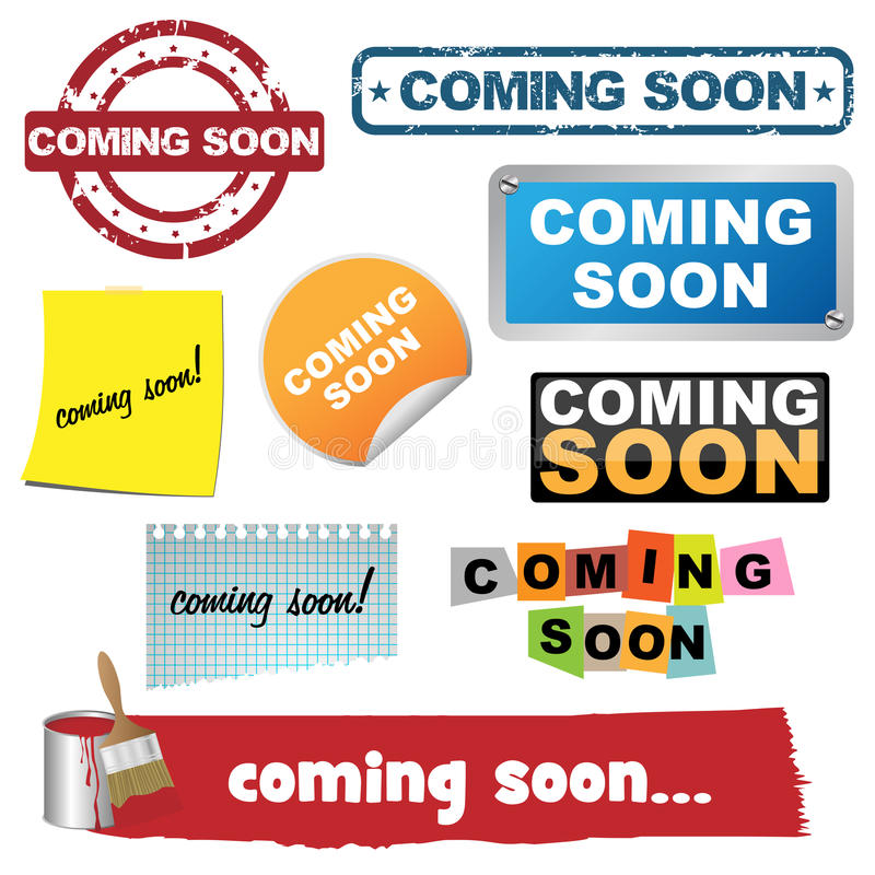 Coming soon icons vector illustration