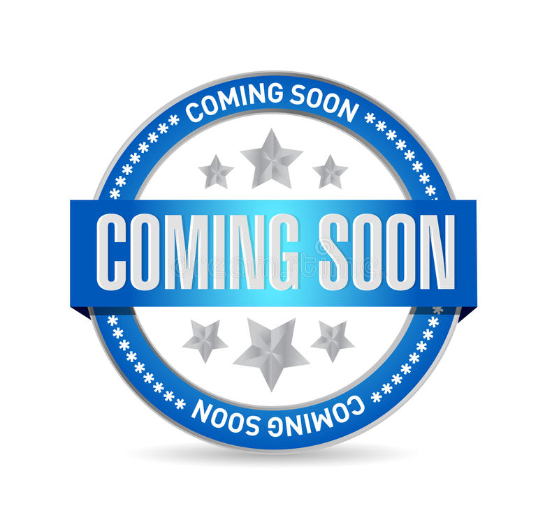 coming soon seal sign concept royalty free illustration