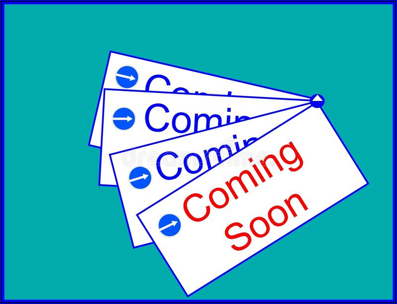 Coming soon sign. The picture shows coming soon sign icon royalty free illustration