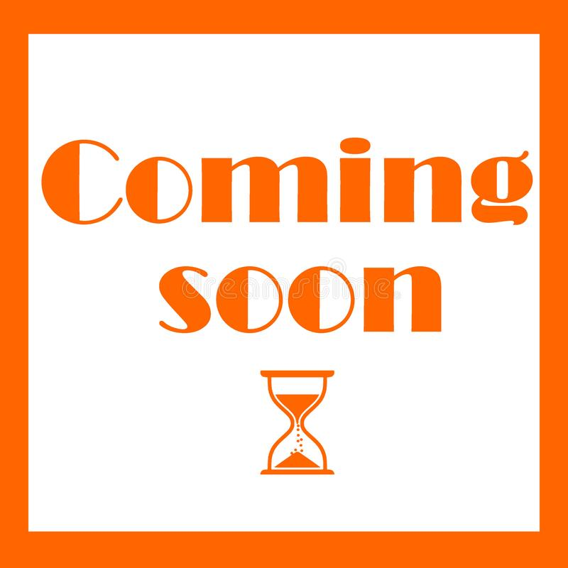 Coming Soon Sign square suit for ig stock illustration
