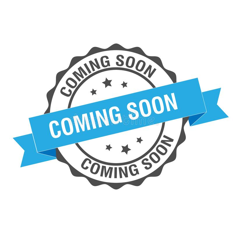 Coming soon stamp illustration. Coming soon stamp seal illustration design royalty free illustration