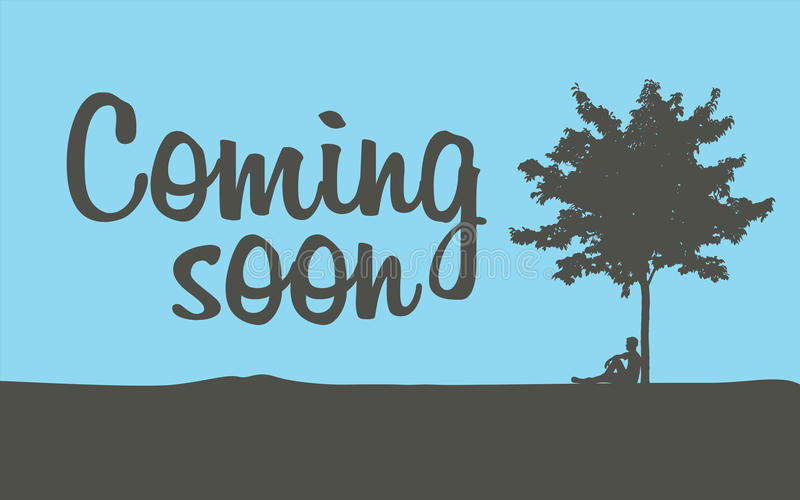 Coming soon temporary banner. Page, vector illustration stock illustration
