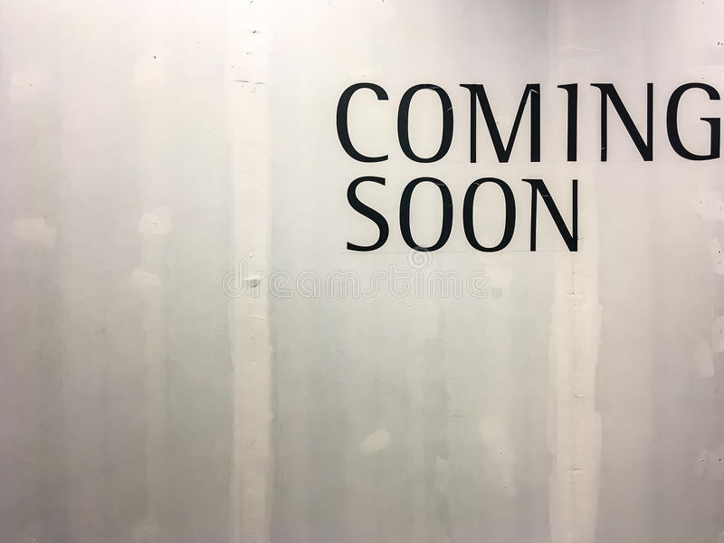 Coming soon text stock images